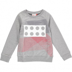 """Bluza """"Sebastian"""" w kolorze szarym. Zielone bluzy dla chłopców marki Lego Wear Fashion, z bawełny, z długim rękawem. W wyprzedaży za 82.95 zł."""