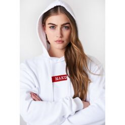 NA-KD Bluza z kapturem i logo NA-KD - White. Białe bluzy damskie NA-KD. Za 161.95 zł.