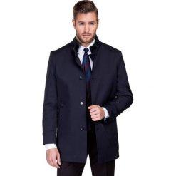 Płaszcz FLORIANO PSGS000047. Niebieskie płaszcze męskie Giacomo Conti, na jesień, z materiału. Za 699.00 zł.