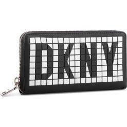 Duży Portfel Damski DKNY - R83QQ103 Blw/Blk/Wht. Czarne portfele damskie DKNY, ze skóry ekologicznej. Za 509.00 zł.