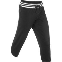 Spodnie sportowe 3/4 bonprix czarny. Spodnie dresowe damskie marki bonprix. Za 49.99 zł.