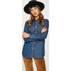 Answear - Koszula. Szare koszule damskie ANSWEAR, z bawełny, casualowe, z klasycznym kołnierzykiem, z długim rękawem. Za 99.90 zł.