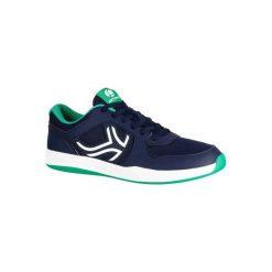 Buty tenis TS130 męskie na twardą nawierzchnię. Niebieskie buty sportowe męskie ARTENGO, z gumy. Za 84.99 zł.