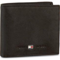 Duży Portfel Męski TOMMY HILFIGER - Johnson Mini Cc Wallet AM0AM00663 002. Czarne portfele męskie Tommy Hilfiger, z nubiku. Za 229.00 zł.