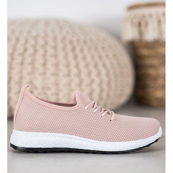 Buty trampki na platformie slip on różowe ananasy CROPP