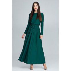 Długsa sukienka maxi m604. Zielone sukienki damskie Global, eleganckie, z długim rękawem. Za 179.00 zł.