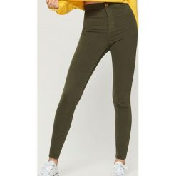 Spodnie skinny - Khaki. Brązowe spodnie materiałowe damskie Sinsay. Za 49.99 zł.