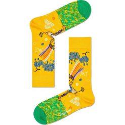Happy Socks - Skarpety (3-pack). Żółte skarpety męskie Happy Socks, z bawełny. W wyprzedaży za 89.90 zł.