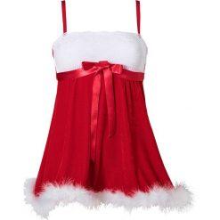 Koszulka nocna świąteczna bonprix czerwono-biały. Czerwone koszule nocne damskie bonprix, z koronki. Za 89.99 zł.