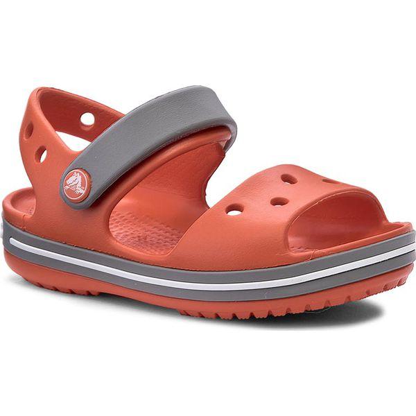 310d21910f541 Sandały CROCS - Crocband Sandal Kids 12856 Tangerine/Smoke - Sandały ...