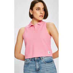 Calvin Klein Jeans - Top. Szare topy damskie Calvin Klein Jeans, z bawełny, bez rękawów. W wyprzedaży za 99.90 zł.