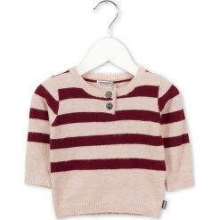 Sweter w kolorze jasnoróżowo-jagodowym. Swetry dla chłopców marki Reserved. W wyprzedaży za 82.95 zł.