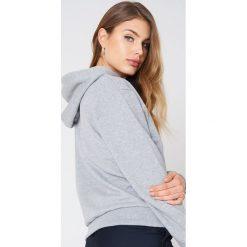 NA-KD Basic Bluza z kapturem basic - Grey. Szare bluzy damskie NA-KD Basic, z bawełny. Za 100.95 zł.