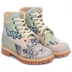Trapery w kolorze błękitno-beżowym. Brązowe śniegowce i trapery damskie Streetfly, z materiału. W wyprzedaży za 219.95 zł.
