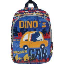 Eurocom Plecak dziecięcy duży Dino's Car Street niebiesko-żółty. Niebieskie torby i plecaki dziecięce Eurocom. Za 39.99 zł.