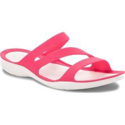 Klapki CROCS - Swiftwater Sandal W 203998 Paradise Pink/White. Czerwone klapki damskie Crocs, z tworzywa sztucznego. W wyprzedaży za 139.00 zł.