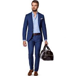 Garnitur Niebieski w Kratę Kioto. Niebieskie garnitury męskie LANCERTO, z tkaniny. Za 1,999.90 zł.