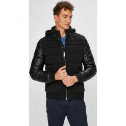 Guess Jeans - Kurtka. Czarne kurtki męskie Guess Jeans, z aplikacjami, z elastanu. Za 899.90 zł.