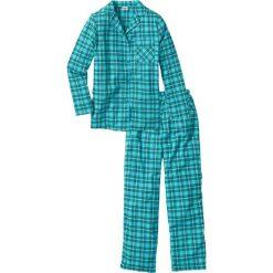 Piżama flanelowa bonprix niebieskozielony w kratę. Piżamy damskie marki bonprix. Za 89.99 zł.