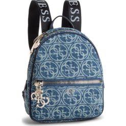 Plecak GUESS - HWSG71 84320 DENIM. Niebieskie plecaki damskie Guess, z aplikacjami, z denimu, eleganckie. Za 559.00 zł.
