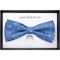 Mucha Niebieska. Niebieskie krawaty i muchy LANCERTO, z dzianiny, eleganckie. Za 79.90 zł.