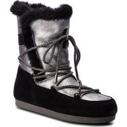 Śniegowce MOON BOOT - Far Side High Shear 24200700003 Argento/Nero. Czarne kozaki damskie Moon Boot, ze skóry. Za 1,249.00 zł.