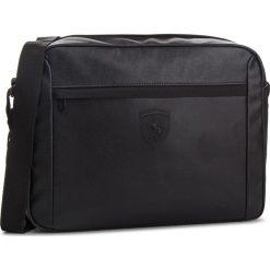 Torba na laptopa PUMA - Sf Ls Reporter 075191  Puma Black 01. Czarne torby na laptopa damskie Puma, ze skóry ekologicznej. Za 399.00 zł.