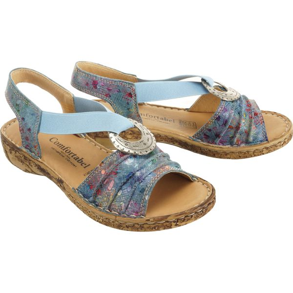 COMFORTABEL 710944 5 blau, sandały damskie