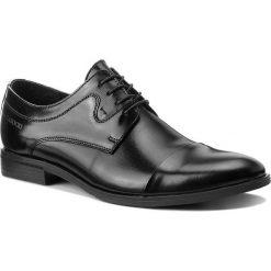 Półbuty LASOCKI FOR MEN - TA-LL42 Black. Czarne eleganckie półbuty Lasocki For Men, z materiału. Za 219.99 zł.