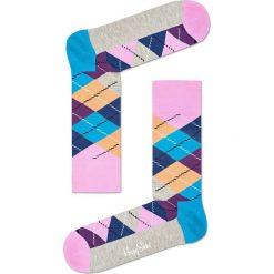 Happy Socks - Skarpetki Argyle. Różowe skarpety damskie Happy Socks, z bawełny. W wyprzedaży za 29.90 zł.