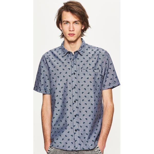 4e70953de81180 Koszula z krótkim rękawem - Szary - Koszule męskie marki Cropp, z krótkim  rękawem. W wyprzedaży za 49.99 zł. - Koszule męskie - Odzież męska - Dla  mężczyzn ...