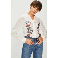 Desigual - Koszula. Szare koszule damskie Desigual, z nadrukiem, z tkaniny, casualowe, ze stójką, z długim rękawem. Za 299.90 zł.