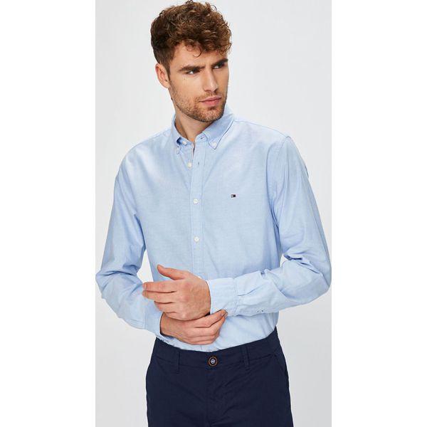 7f0c7d66443ae Tommy Hilfiger - Koszula Engineered Oxford - Szare koszule męskie ...