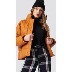 NA-KD Trend Kurtka skórzana Padded - Brown,Orange,Copper. Brązowe kurtki damskie NA-KD Trend, z materiału. Za 364.95 zł.