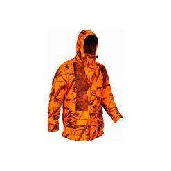 Kurtka myśliwska zimowa męska Sibir300 Kamo-BL. Brązowe kurtki męskie SOLOGNAC, na zimę, z polaru. Za 499.99 zł.