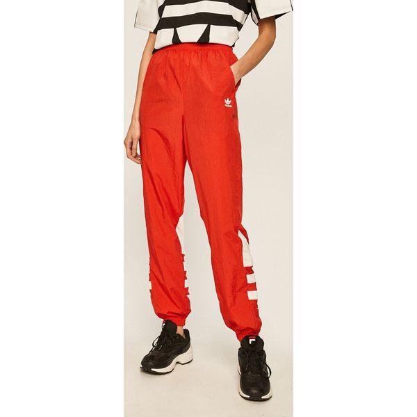 Czerwone spodnie i legginsy damskie adidas Originals