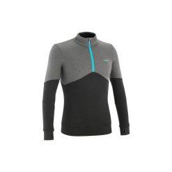 Sweter narciarski MID WARM 300 damski. Szare swetry damskie WED'ZE, z wełny. W wyprzedaży za 59.99 zł.