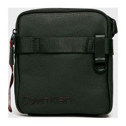 Calvin Klein - Saszetka. Czarne saszetki męskie Calvin Klein, z bawełny, casualowe. Za 299.90 zł.