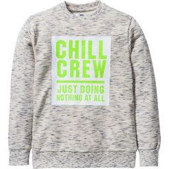 """Bluza """"college"""" bonprix biel wełny melanż. Bluzy dla chłopców marki Pulp. Za 32.99 zł."""