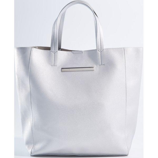 63ba41a74444b Duża torba shopper z kosmetyczką - Srebrny - Torebki shopper damskie ...
