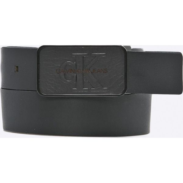 d06156b9db24 Calvin Klein Jeans - Pasek skórzany - Czarne paski damskie marki ...