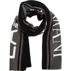 Szal EA7 EMPORIO ARMANI - 275815 8A306 00020 Black. Szare szaliki i chusty damskie marki Giacomo Conti, na zimę, z tkaniny. W wyprzedaży za 279.00 zł.