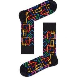Happy Socks - Skarpety Geometric. Czarne skarpety męskie Happy Socks. W wyprzedaży za 29.90 zł.