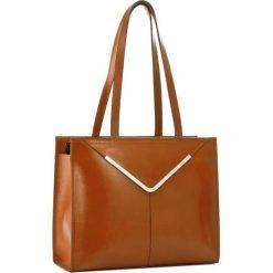 Torebka CREOLE - RBI10154  Koniak. Brązowe torebki do ręki damskie Creole, ze skóry. W wyprzedaży za 309.00 zł.