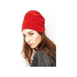 Czapka czerwona/ organiczna bawełna. Czerwone czapki i kapelusze damskie Siss, z bawełny. Za 65.00 zł.