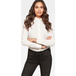G-Star Raw - Koszula. Szare koszule damskie G-Star Raw, z bawełny, casualowe, z klasycznym kołnierzykiem, z długim rękawem. Za 319.90 zł.