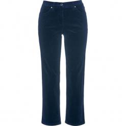 Spodnie sztruksowe ze stretchem 7/8 bonprix ciemnoniebieski. Niebieskie spodnie materiałowe damskie bonprix, ze sztruksu. Za 89.99 zł.