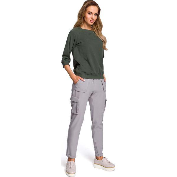 1d61e4a76597 Szare Spodnie na Gumie z Kieszeniami Typu Kargo - Spodnie ...