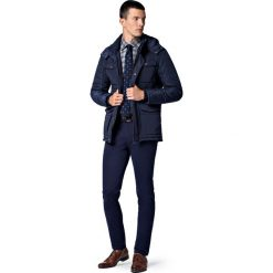 Kurtka Granatowa Eureka II. Czarne kurtki męskie LANCERTO, na jesień, z jeansu. W wyprzedaży za 559.90 zł.
