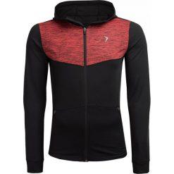 Bluza treningowa męska BLMF601 - czerwony melanż - Outhorn. Czerwone bluzy męskie Outhorn, melanż, ze skóry. W wyprzedaży za 99.99 zł.